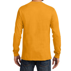Men's Long Sleeve Essential Tee - Gold - Back