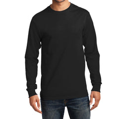 Men's Long Sleeve Essential Tee - Jet Black - Front