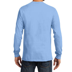Men's Long Sleeve Essential Tee - Light Blue - Back