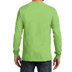 Men's Long Sleeve Essential Tee - Lime - Back