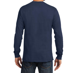 Men's Long Sleeve Essential Tee - Navy - Back