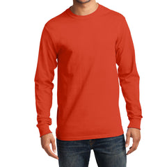 Men's Long Sleeve Essential Tee - Orange - Front