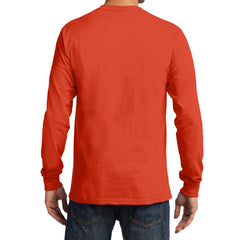 Men's Long Sleeve Essential Tee - Orange - Back