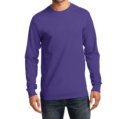 Men's Long Sleeve Essential Tee - Purple - Front