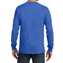 Men's Long Sleeve Essential Tee - Royal - Back