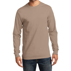 Men's Long Sleeve Essential Tee - Sand - Front