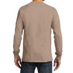 Men's Long Sleeve Essential Tee - Sand - Back
