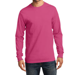 Men's Long Sleeve Essential Tee - Sangria - Front