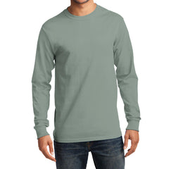 Men's Long Sleeve Essential Tee - Stonewashed Green - Front