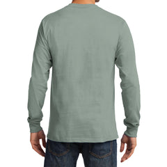 Men's Long Sleeve Essential Tee - Stonewashed Green - Back
