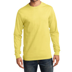 Men's Long Sleeve Essential Tee - Yellow - Front