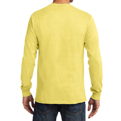 Men's Long Sleeve Essential Tee - Yellow - Back