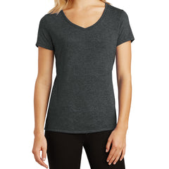 Women's Perfect Tri V-Neck Tee - Black Frost - Front