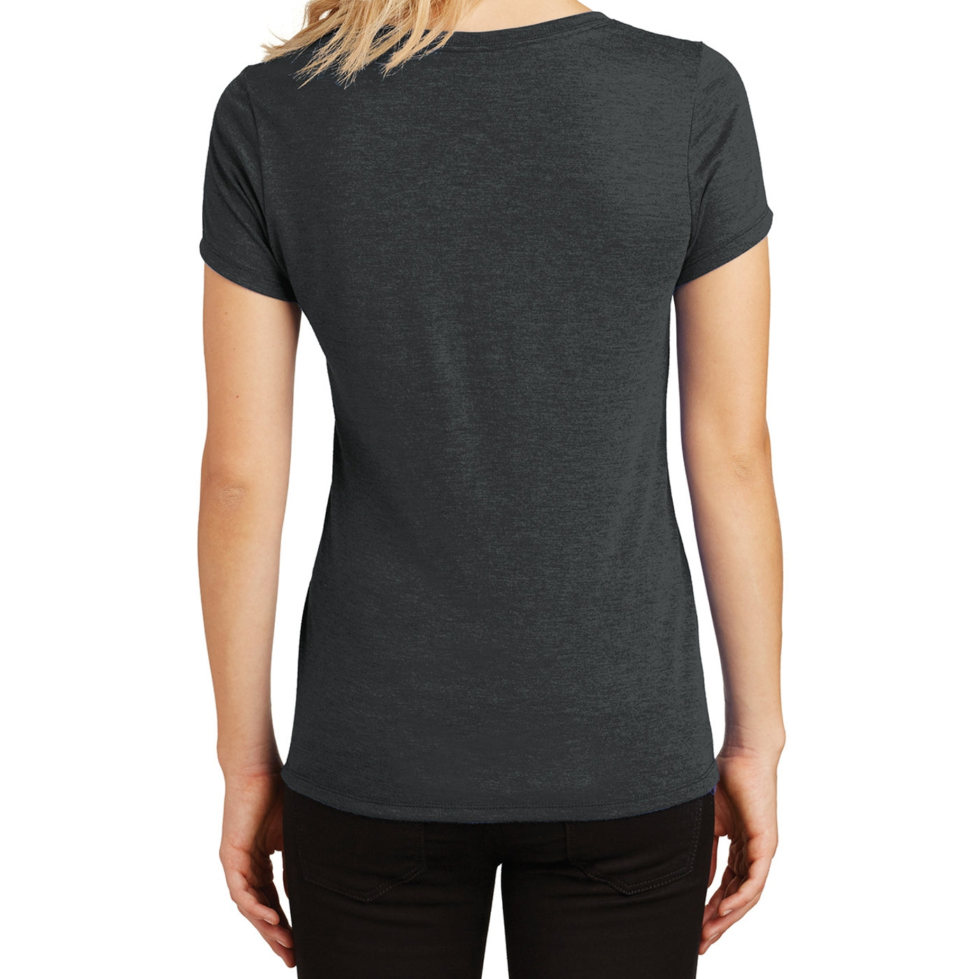 Women's Perfect Tri V-Neck Tee - Black Frost - Back