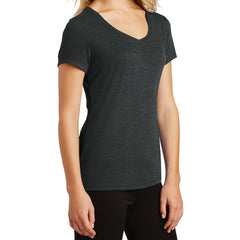 Women's Perfect Tri V-Neck Tee - Black Frost - Side
