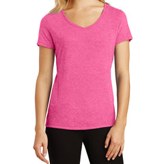 Women's Perfect Tri V-Neck Tee - Fuchsia Frost - Front