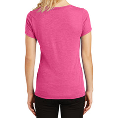 Women's Perfect Tri V-Neck Tee - Fuchsia Frost - Back