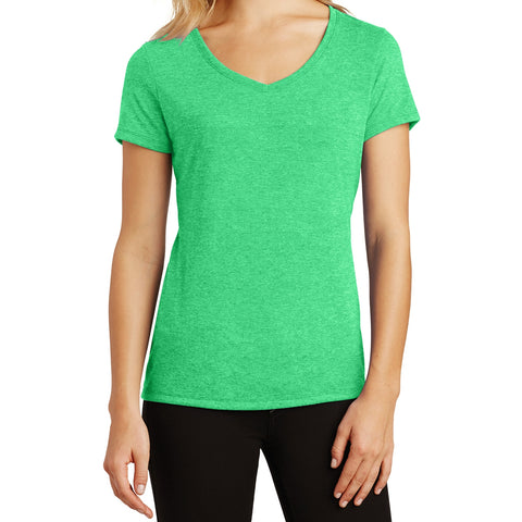 Women's Perfect Tri V-Neck Tee - Green Frost - Front