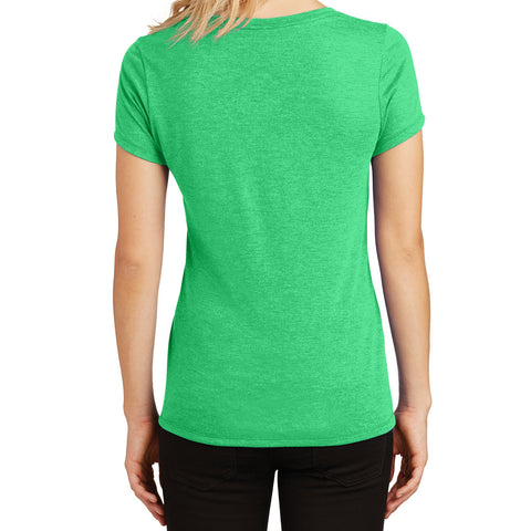 Women's Perfect Tri V-Neck Tee - Green Frost - Back
