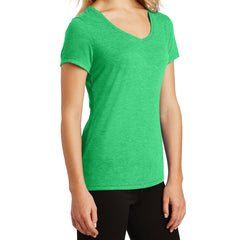 Women's Perfect Tri V-Neck Tee - Green Frost - Side