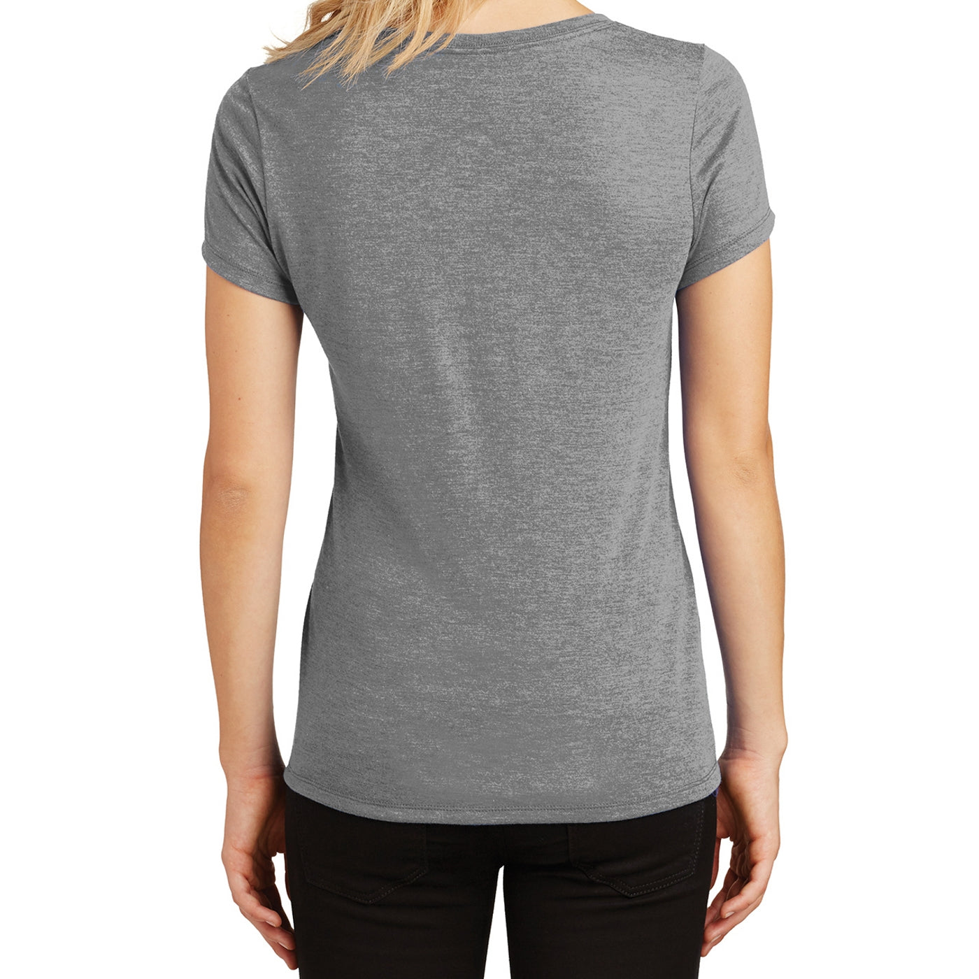 Women's Perfect Tri V-Neck Tee - Grey Frost - Back