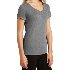 Women's Perfect Tri V-Neck Tee - Grey Frost - Side
