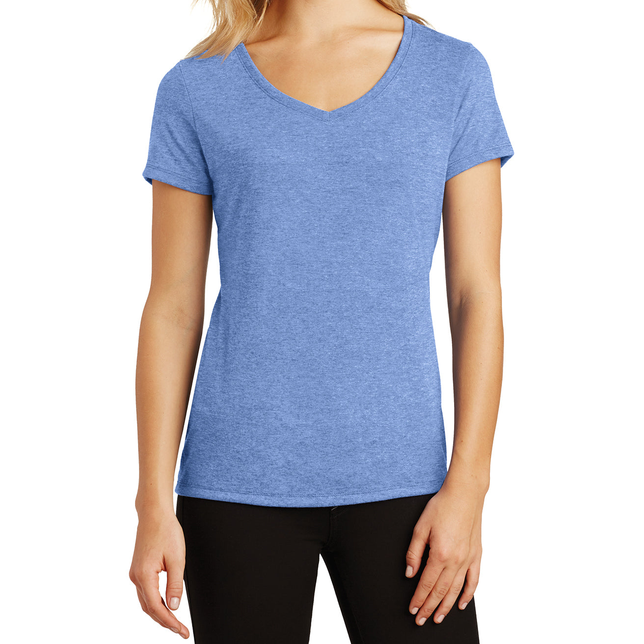 Women's Perfect Tri V-Neck Tee - Maritime Frost - Front