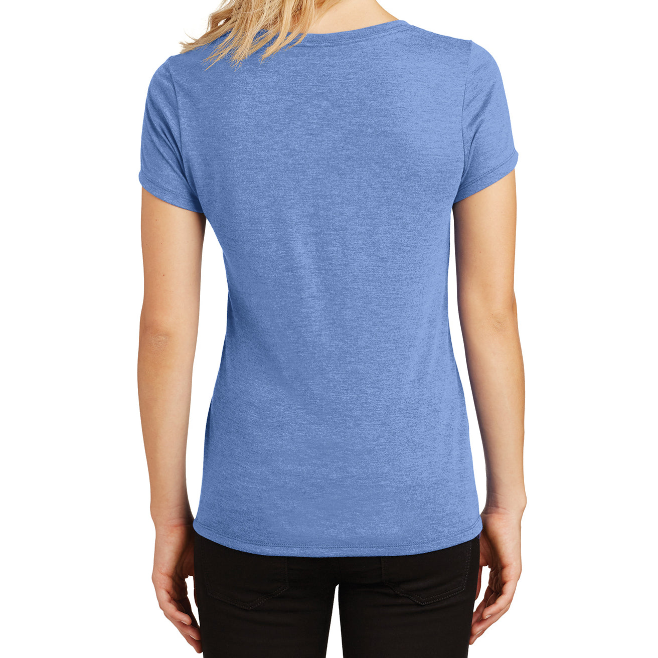 Women's Perfect Tri V-Neck Tee - Maritime Frost - Back