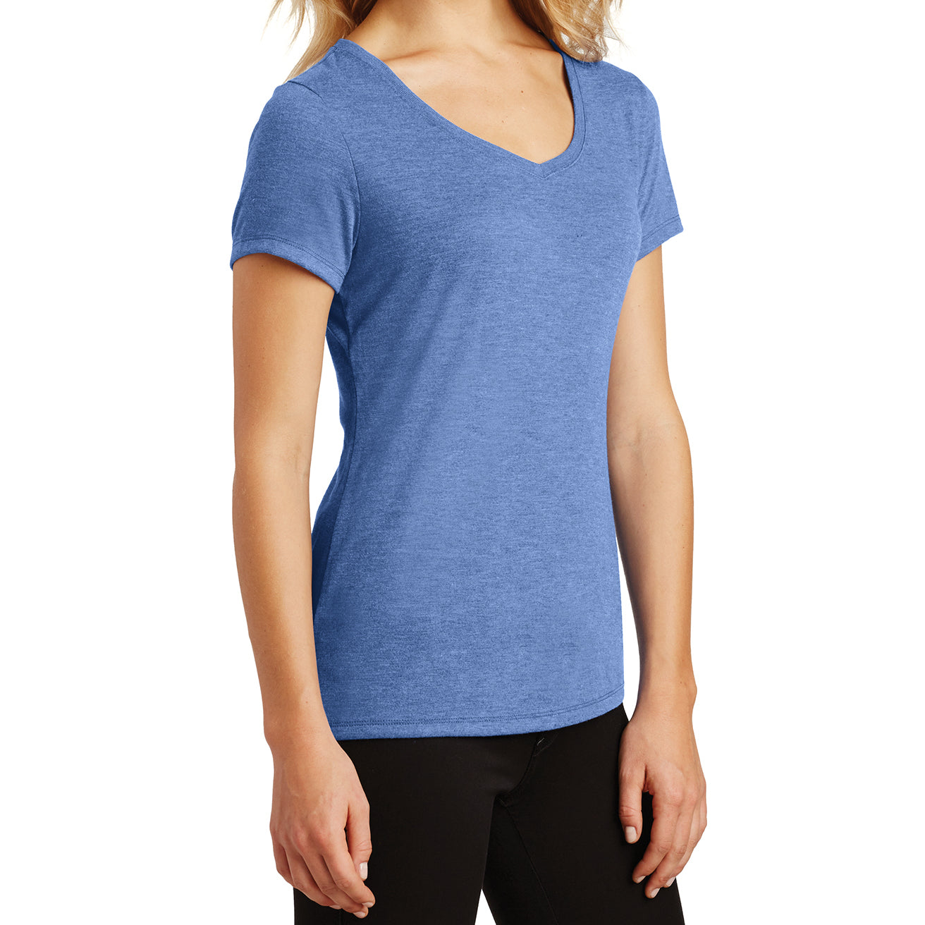 Women's Perfect Tri V-Neck Tee - Maritime Frost - Side