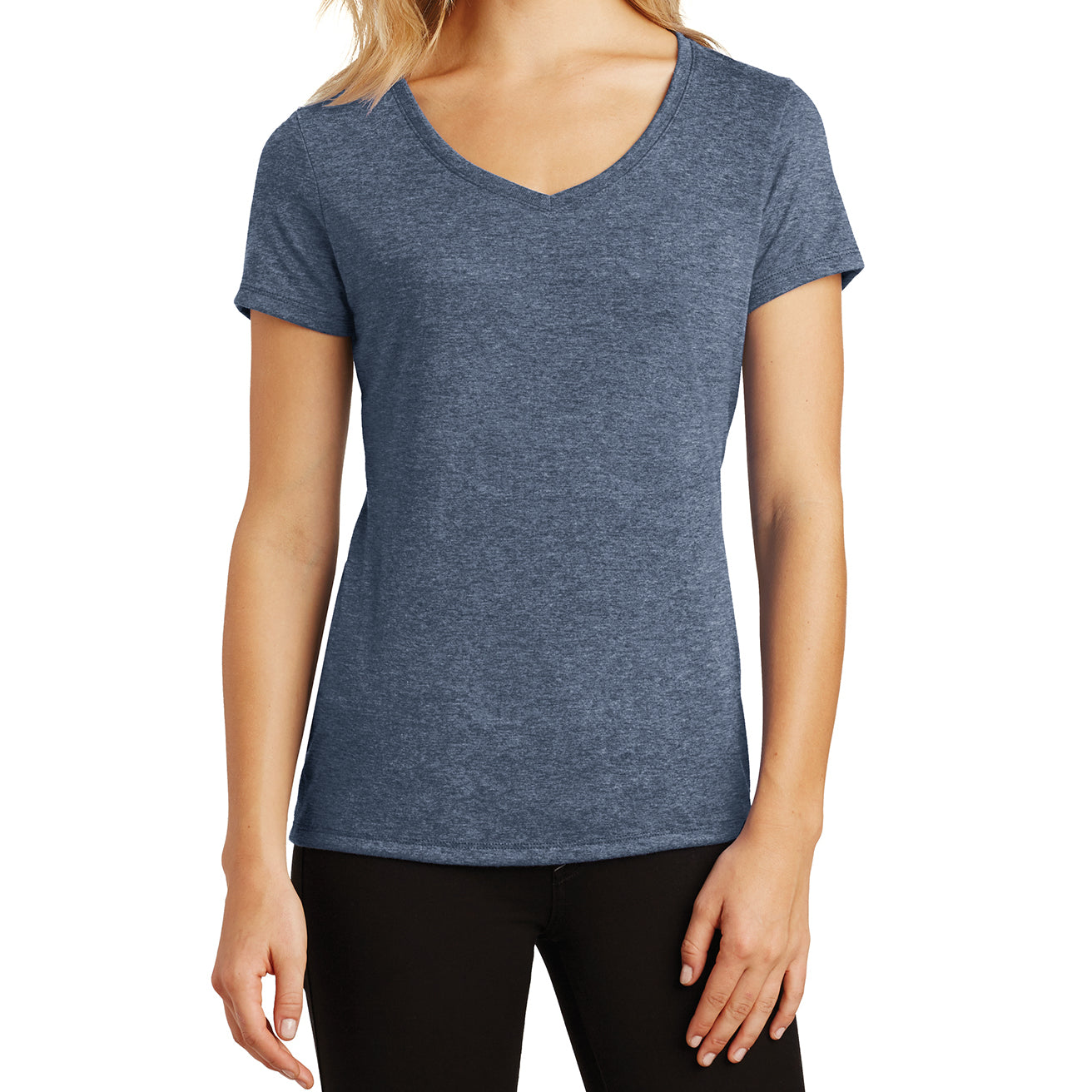 Women's Perfect Tri V-Neck Tee - Navy Frost - Front