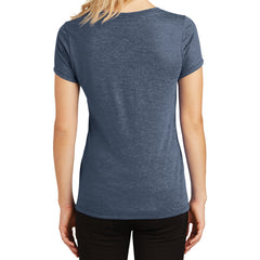 Women's Perfect Tri V-Neck Tee - Navy Frost - Back