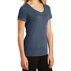 Women's Perfect Tri V-Neck Tee - Navy Frost - Side