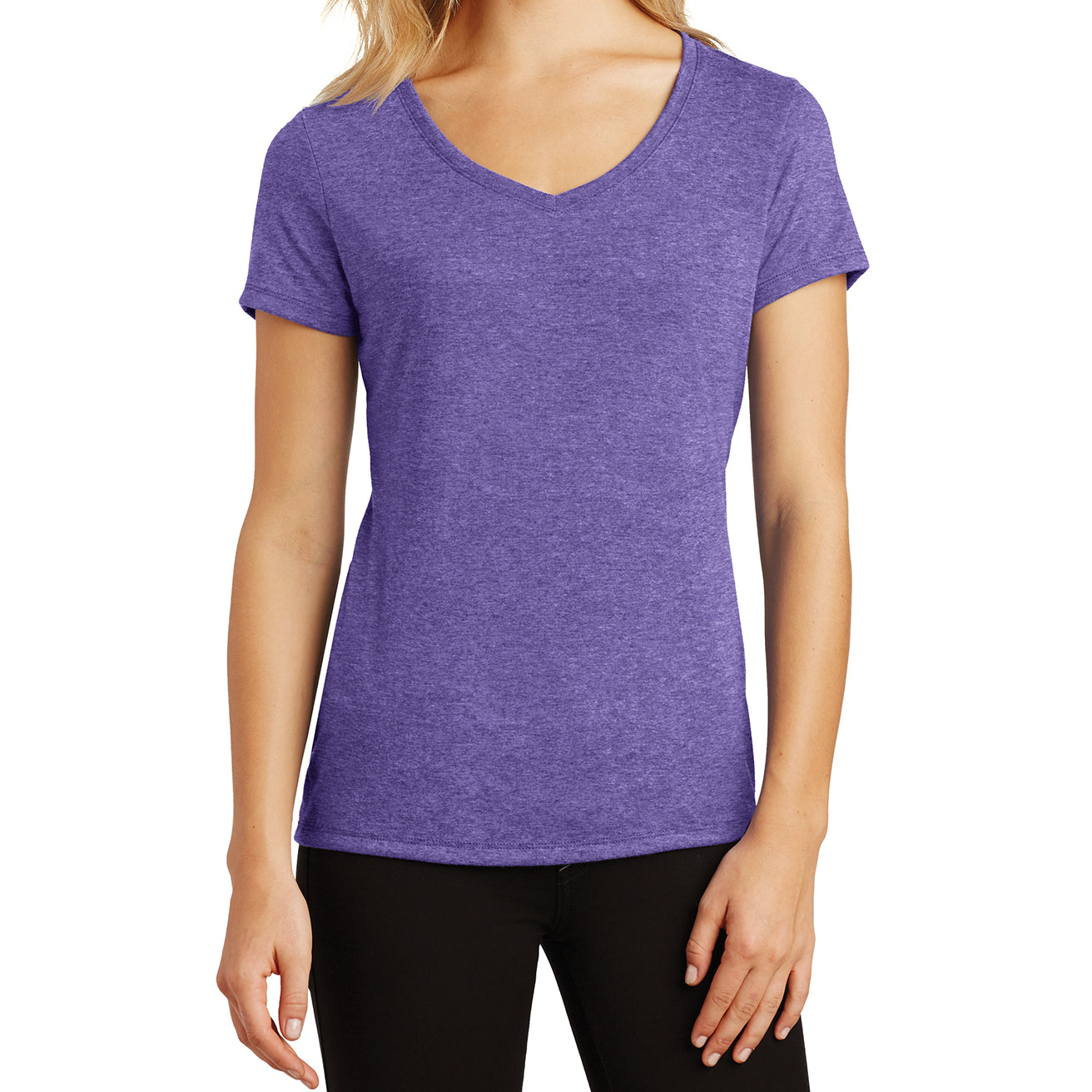 Women's Perfect Tri V-Neck Tee - Purple Frost - Front
