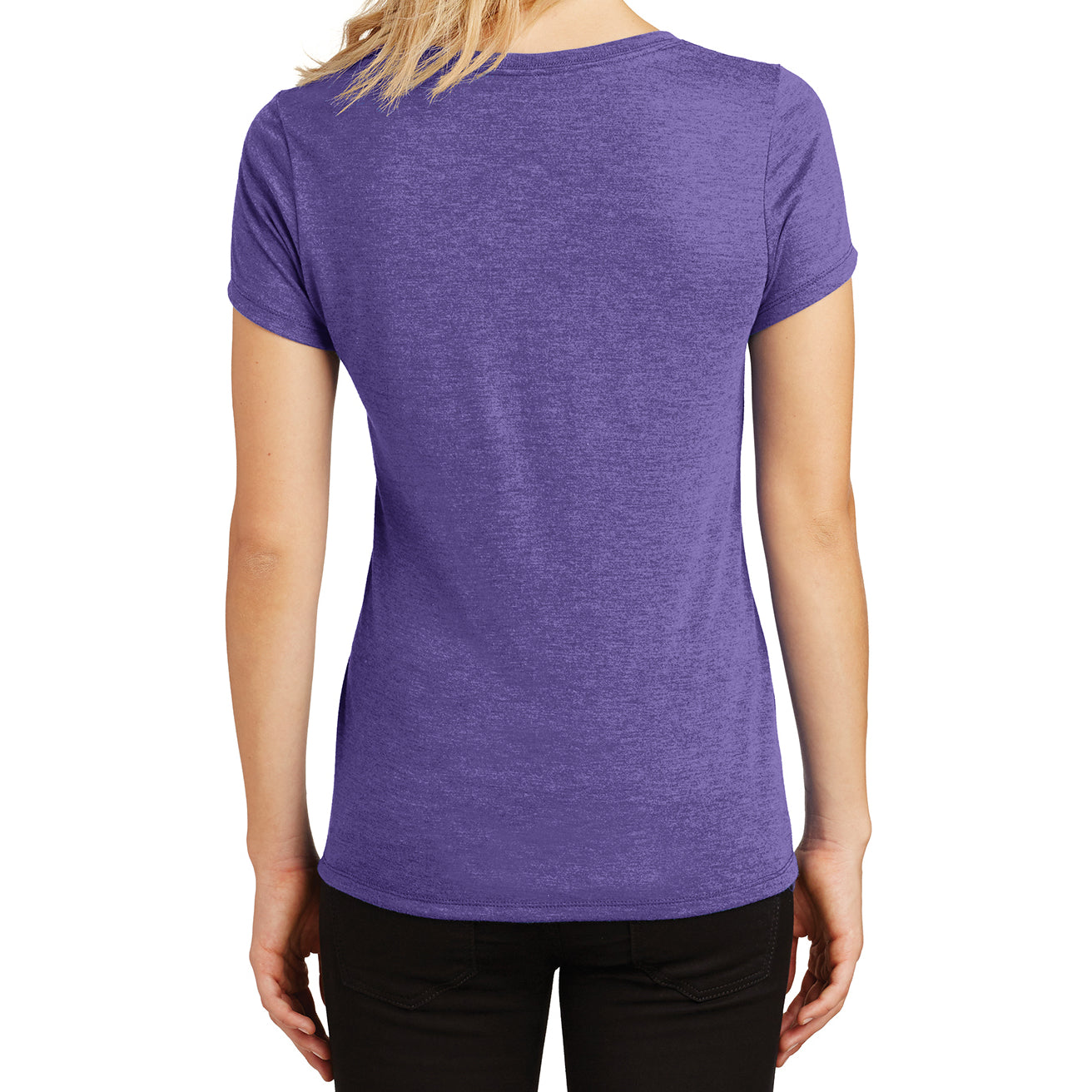 Women's Perfect Tri V-Neck Tee - Purple Frost - Back