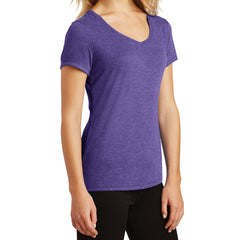 Women's Perfect Tri V-Neck Tee - Purple Frost - Side
