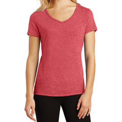 Women's Perfect Tri V-Neck Tee - Red Frost - Front