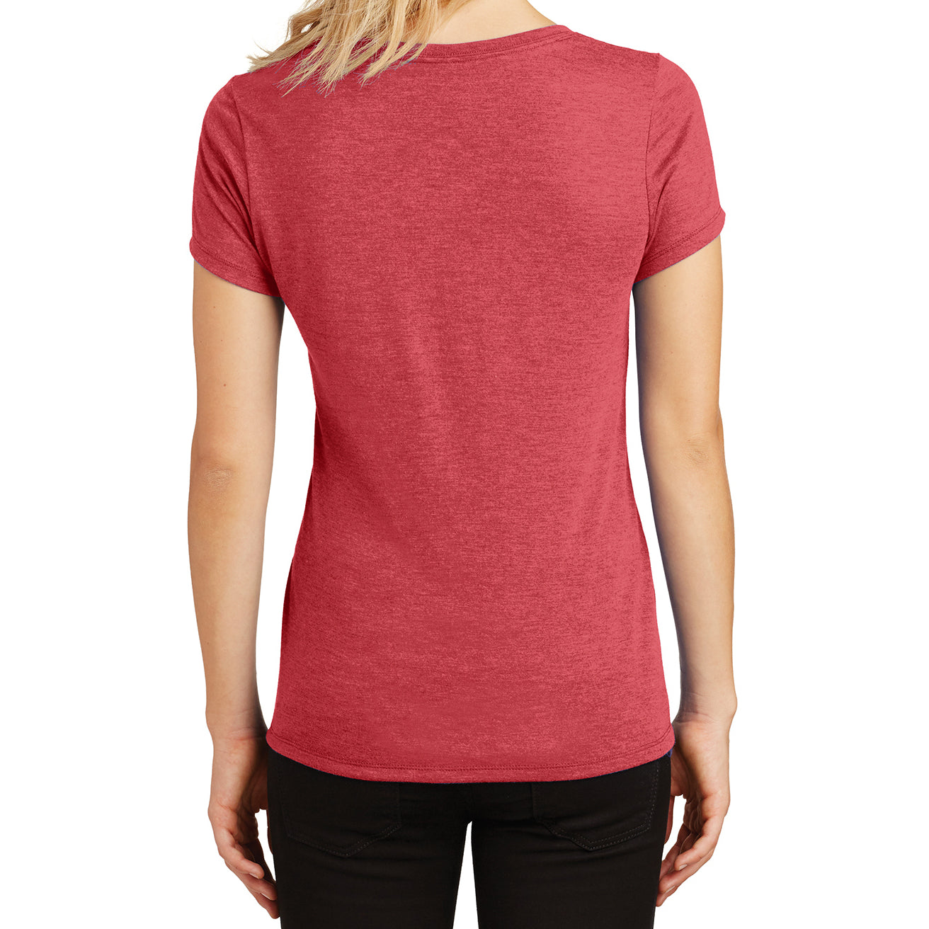 Women's Perfect Tri V-Neck Tee - Red Frost - Back