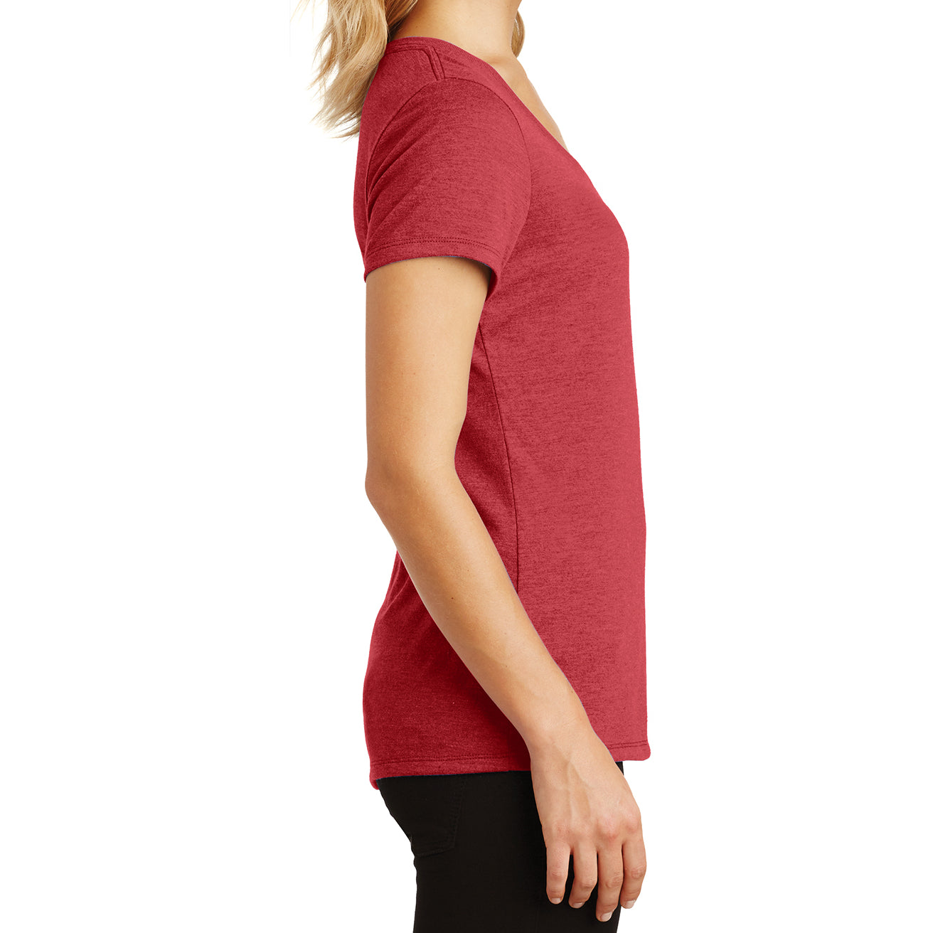 Women's Perfect Tri V-Neck Tee - Red Frost - Side