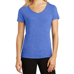 Women's Perfect Tri V-Neck Tee - Royal Frost - Front