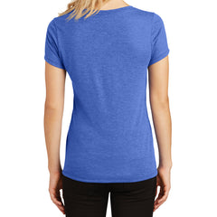 Women's Perfect Tri V-Neck Tee - Royal Frost - Back