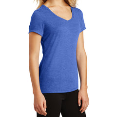 Women's Perfect Tri V-Neck Tee - Royal Frost - Side