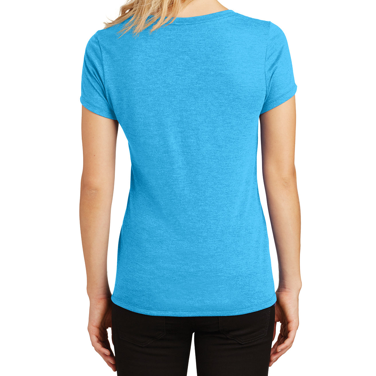 Women's Perfect Tri V-Neck Tee - Turquoise Frost - Back