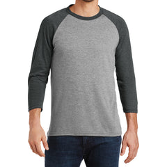 Men's Perfect Tri 3/4-Sleeve Raglan - Black Frost/Grey Frost - Front
