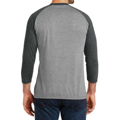 Men's Perfect Tri 3/4-Sleeve Raglan - Black Frost/Grey Frost - Back