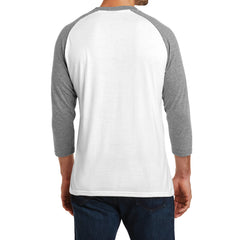 Men's Perfect Tri 3/4-Sleeve Raglan - Grey Frost/White - Back