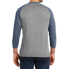Men's Perfect Tri 3/4-Sleeve Raglan - Navy Frost/Grey Frost - Back