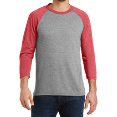 Men's Perfect Tri 3/4-Sleeve Raglan - Red Frost/Grey Frost - Front