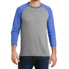 Men's Perfect Tri 3/4-Sleeve Raglan - Royal Frost/Grey Frost - Front