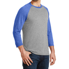 Men's Perfect Tri 3/4-Sleeve Raglan - Royal Frost/Grey Frost - Side