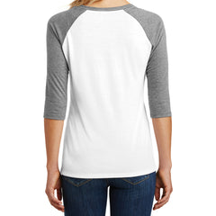 Women's Perfect Tri 3/4-Sleeve Raglan - Grey Frost/ White